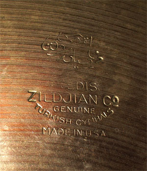 Dating zildjian cymbals stamp